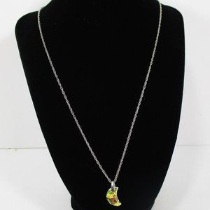 Crystal AB Moon Necklace NWOT